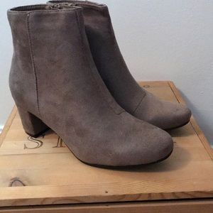 Taupe Suede Booties | NWB